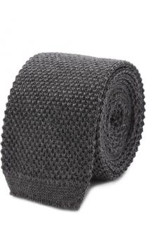Шерстяной вязаный галстук HUGO