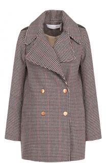Двубортное пальто фактурной вязки See by Chloé