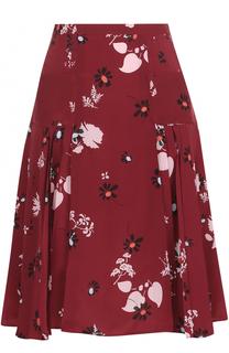 Шелковая юбка-миди с принтом Valentino