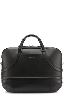 Кожаная сумка для ноутбука с плечевым ремнем Alexander McQueen