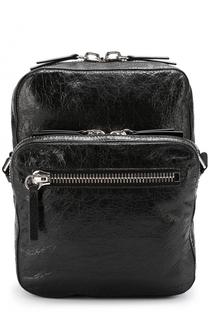 Кожаная сумка-планшет с внешним карманом на молнии Valentino