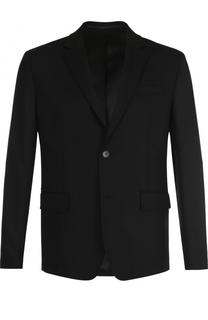 Шерстяной однобортный пиджак с декоративной отделкой Givenchy