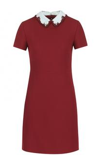 Приталенное мини-платье с декорированным воротником Valentino