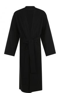 Пальто свободного кроя из смеси льна и шерсти Ann Demeulemeester