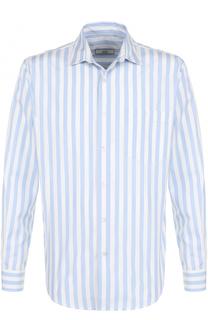 Хлопковая рубашка свободного кроя в контрастную полоску Ami