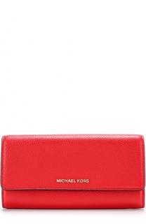 Кошелек из сафьяновой кожи с клапаном MICHAEL Michael Kors