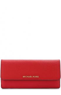 Кожаный кошелек с клапаном MICHAEL Michael Kors