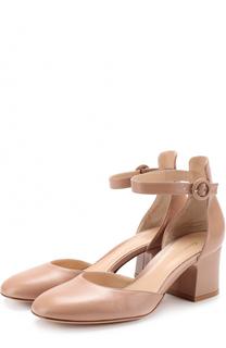 Кожаные туфли Greta с ремешком на щиколотке Gianvito Rossi
