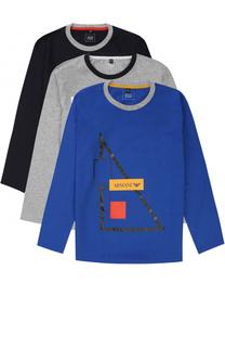 Комплект из трех футболок с принтом Giorgio Armani