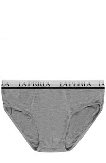 Брифы с широкой резинкой и логотипом бренда La Perla