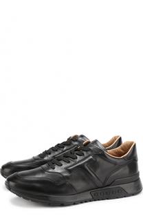 Кожаные кроссовки на шнуровке Tod's Tods