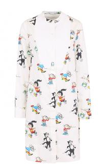 Платье-рубашка прямого кроя с принтом Stella McCartney