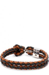 Плетеный кожаный браслет Burberry