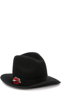 Фетровая шляпа с брошью Dsquared2