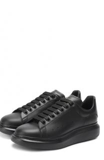 Кожаные кеды на шнуровке на толстой подошве Alexander McQueen