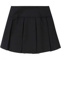 Шерстяная мини-юбка с защипами Dal Lago