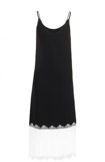 Приталенное платье с кружевной отделкой Walk of Shame