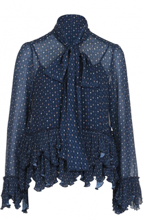 Блуза с оборками и принтом See by Chloé