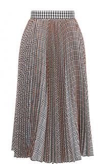 Плиссированная юбка-миди MSGM