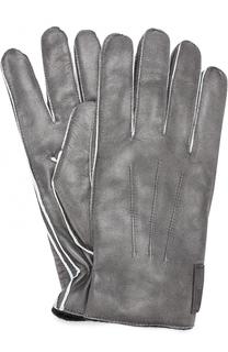 Кожаные перчатки Armani Collezioni