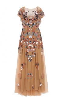 Платье-макси с вышивкой Zuhair Murad