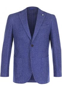 Однобортный пиджак из смеси шерсти и хлопка L.B.M. 1911