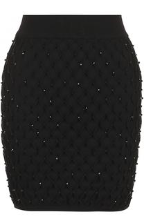 Мини-юбка с фактурной отделкой Balmain