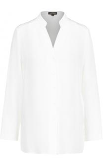 Шелковая блуза с декоративной отделкой Escada