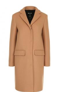 Однобортное пальто прямого кроя MSGM