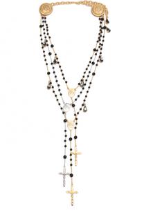 Ожерелье с крестами и кристаллами Swarovski Dolce & Gabbana