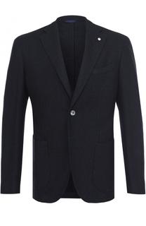 Однобортный пиджак из смеси хлопка и шерсти L.B.M. 1911