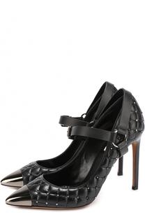 Кожаные стеганые туфли Rockstud Spike на шпильке Valentino
