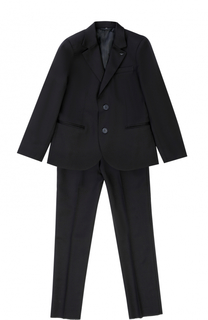 Шерстяной костюм из пиджака и брюк Giorgio Armani