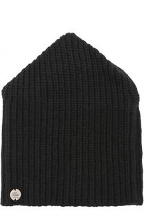 Шерстяная шапка фактурной вязки Lost&Found Lost&Found