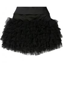 Мини-юбка с рюшами и бантом Monnalisa