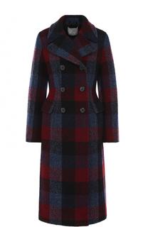 Двубортное шерстяное пальто в контрастную клетку 3.1 Phillip Lim