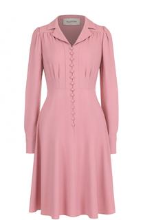 Приталенное платье-миди с декоративной отделкой Valentino