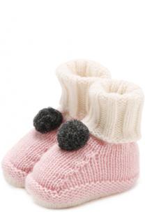 Шерстяные носки с помпоном Baby T