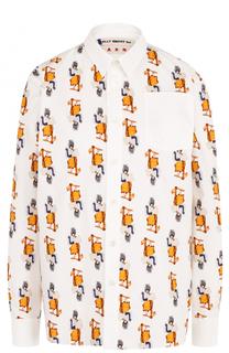 Блуза прямого кроя с принтом Marni