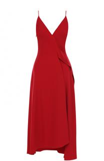 Платье-миди с оборками Victoria Beckham