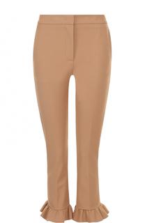 Укороченные брюки-скинни с оборками MSGM