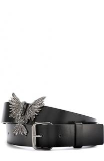 Кожаный ремень с декором в виде птицы со стразами Lanvin