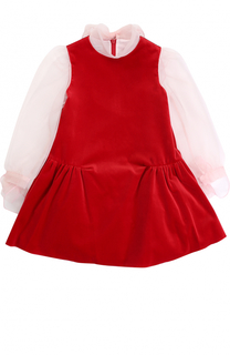Хлопковое мини-платье с бантами I Pinco Pallino