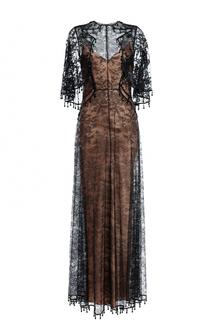Платье-макси с кружевной отделкой Givenchy