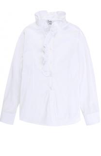 Блуза из вискозы и хлопка с оборками Aletta
