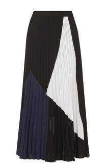 Плиссированная юбка-миди из шелка Proenza Schouler