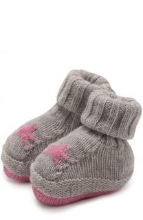 Носки из смеси кашемира и шерсти с принтом Baby T