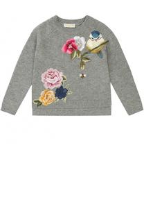 Вязаный свитер с вышивкой Monnalisa