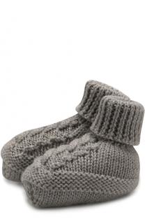 Шерстятые носки фактурной вязки Baby T