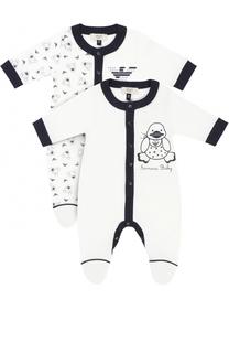 Хлопковый комплект из двух пижам Giorgio Armani
